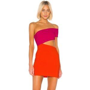 Lovers + Friends Dresses - REVOLVE LOVERS FRIENDS Rowan Mini Pink/Orange, XXS